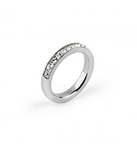 anello tring acciaio 316L cristalli swarovski lealtà
