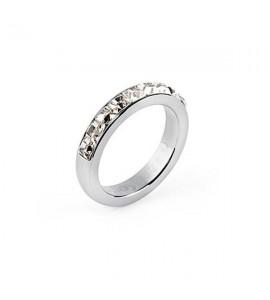 anello tring acciaio 316L cristalli swarovski purezza