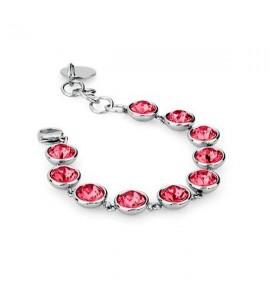bracciale acciaio 316L b-tring cristalli indian pink swarovski