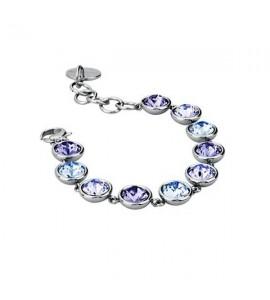 bracciale acciaio 316L b-tring cristalli lavender tanzanite light sapphire swarovski