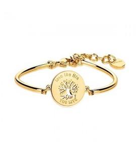 bracciale chakra in acciaio  pvd oro  collezione amuleti