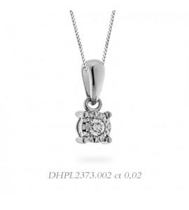 Collana linea Stelle in oro 18 kt e diamante 0,02 DHPL2373.002