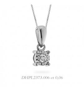 Collana linea Stelle in oro 18 kt e diamante 0,06 DHPL2373.006