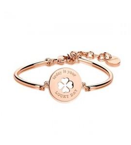 bracciale chakra in acciaio  pvd oro rosa collezione amuleti