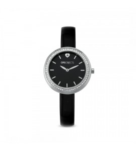 Orologio opsobjects Black Charme silver pelle nero opspw-567