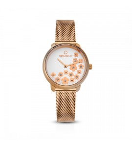 Orologio opsobjects Bold Flower crystal gold rose opspw-592