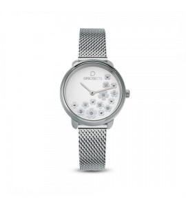 Orologio opsobjects Bold Flower crystal silver opspw-591