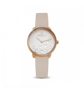 Orologio opsobjects Bold Heart da donna rose gold pelle opspw-598