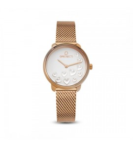 Orologio opsobjects Bold Heart da donna white rose gold opspw-595