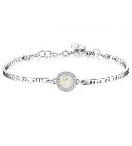 bracciale chakra in acciaio e cristalli swarovski collezione amuleti