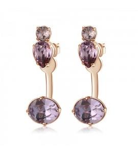 Orecchini Affinity in ottone galvanica oro rosa cristalli colorati swarovski bff26