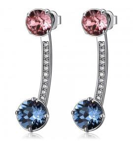 Orecchini Affinity in ottone rodiato cristalli colorati swarovski zirconi bff21