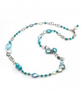 Collana lunga Grimani topazio azzurro coa79a07