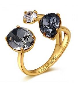Anello Affinity in ottone galvanica oro misura 14 cristalli colorati swarovski bff34b