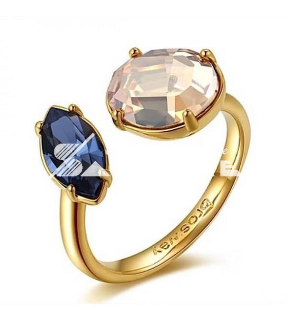 più alla moda super economico modelli di grande varietà Anello donna gioielli Brosway Affinity in ottone galvanica oro misura 14  cristalli colorati swarovski bff42b