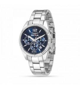 Orologio cronografo 240 cassa in acciaio 41 mm quadrante blu r3273676004