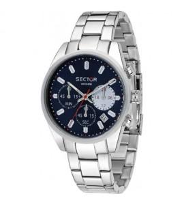 Orologio cronografo 245 cassa in acciaio 41 mm quadrante blu r3273786002