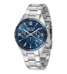 Orologio cronografo 770 cassa in acciaio 44 mm quadrante blu r3273616003
