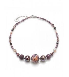 Collana Crystallized Blossom girocollo viola cob08a05