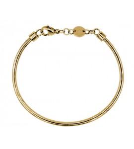 bracciale rigido in acciaio armonico e pvd oro diametro 65,5 mm
