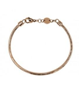 bracciale rigido in acciaio armonico e pvd oro rosa diametro 57,5 mm