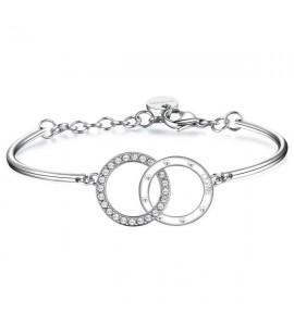 bracciale romeo & juliet acciaio 316L cristalli swarovski