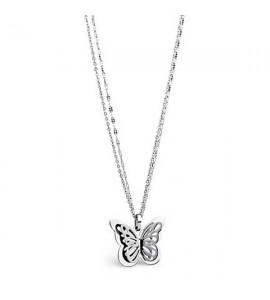 Collana Mariposa in acciaio 316L con Farfalla smp04