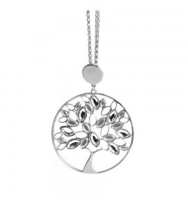 Collana My Trees in bronzo rodiato con albero della vita pendente e Swarovski crystal xgr321