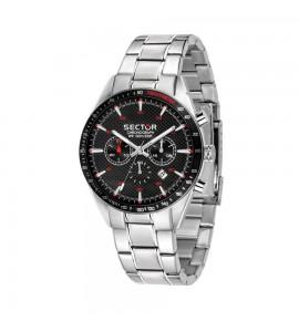 Orologio cronografo 770 cassa in acciaio 44 mm quadrante nero effetto carbonio r3273616004