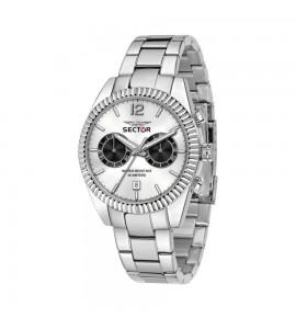 Orologio multifunzione 240 cassa in acciaio 41 mm quadrante silver r3253240007