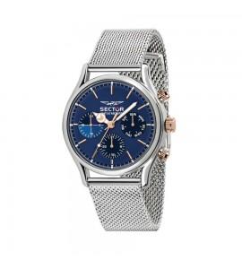Orologio multifunzione 660 cassa in acciaio 43 mm cinturio acciaio maglia milanese quadrante blu r3253517009