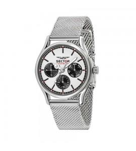 Orologio multifunzione 660 cassa in acciaio 43 mm cinturio acciaio maglia milanese quadrante silver r3253517008