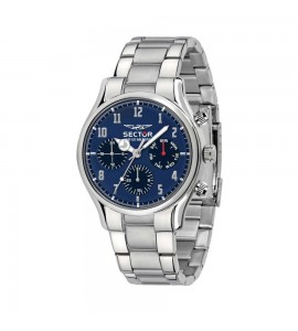 Orologio multifunzione 660 cassa in acciaio 43 mm cinturio acciaio quadrante blu r3253517007