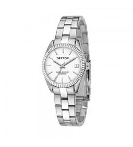 Orologio solo tempo 240 cassa in acciaio 32 mm quadrante bianco r3253240507