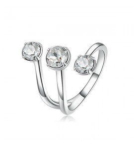 anello affinity in ottone misura 14 con swarovski bianchi