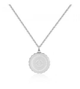 Collana gioielli donna Sagapò Lucky Coin in acciaio 316L con incisione sky05