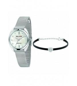 Orologio donna solo tempo sector 955 cassa in acciaio 32 mm con bracciale r3253518510