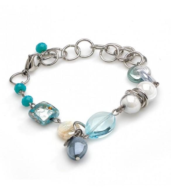 design di qualità f9995 9c57b Bracciale donna gioielli Antica Murrina Grimani topazio azzurro ...