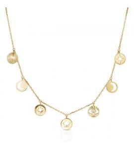 Collana donna gioielli Brosway Chant in acciaio 316L pvd oro bah02