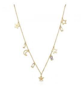 Collana donna gioielli Brosway Chant in acciaio 316L pvd oro bah06