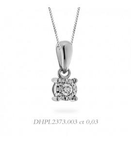 Collana donna gioielli Donnaoro linea Stelle in oro 18 kt e diamante 0,03 DHPL2373.003