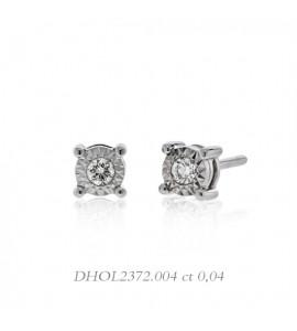 Orecchini donna gioielli Donnaoro linea Stelle in oro 18 kt e diamanti 0,04 DHOL2372.004