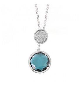 Collana donna gioielli Boccadamo con cristallo pendente blu London xgr164