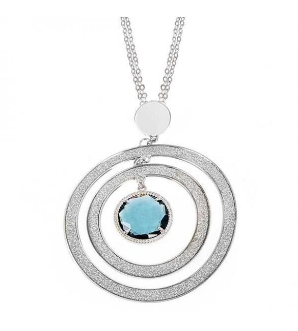 molto carino 13898 cda35 Collana donna gioielli Boccadamo con maxi pendente e cristallo blu London  xgr162