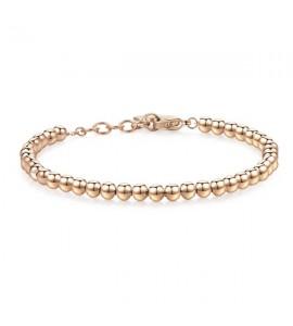 Bracciale donna gioielli Sagapò Happy in acciaio 316L Sfere piccole pvd oro rosa shac37