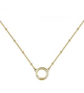 Collana donna gioielli Brosway Très Jolie componibile in acciaio 316L pvd oro mm 430 bct42