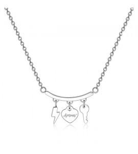 Collana donna gioielli Sagapò Tricony in acciaio 316L con charm sty02