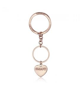 Portachiavi donna gioielli Sagapò Happy in acciaio 316L pvd oro rosa shap03