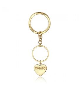 Portachiavi donna gioielli Sagapò Happy in acciaio 316L pvd oro shap02