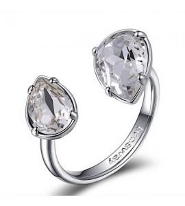 anello affinity ottone rodiato cristalli bianchi swarovski